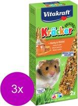 Vitakraft Hamsterkracker 2 In 1 Honing - 3 St à 155 gr