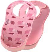 Bibetta slab in 2-pack | Nijlpaard / Licht roze