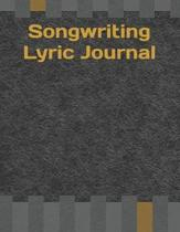 Songwriting Lyric Journal