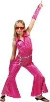 Roze disco pak voor meisjes - Kinderkostuums - 152