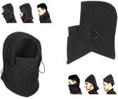 3-In-1 Fleece Balaclava Winter Muts Face Mask Nek Warmer - Thermo Helmmuts Capuchon Masker