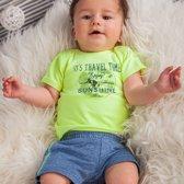 jongens Kledingset Dirkje babykleding 2-delig setje travel time yellow maat 68 8719052363453