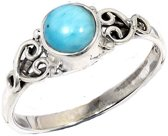 Ring Larimar Heart - 925 zilver - maat 17.00 mm - maat 17.00 mm