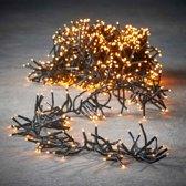 Luca Lighting kerstverlichting lichtsnoer ook voor buiten 384 lampjes extrawarm wit timer met flashfunctie 280 cm luxe