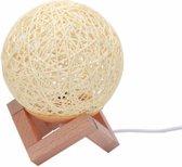 Maanlamp Hennep 3D - Maanlamp Met Standaard - Oplaadbaar Via USB - Hennep Maanlamp Voor Kinderen