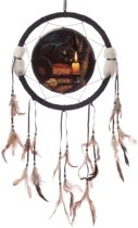 Dromenvanger zwarte kat lisa parker 33cm - the witching hour cat-