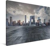 Grijze wolken boven Beijing Canvas 120x80 cm - Foto print op Canvas schilderij (Wanddecoratie woonkamer / slaapkamer)