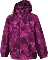 Color Kids Konrod Padded Winterjas AOP Junior  Sportjas - Maat 152  - Unisex - roze/paars
