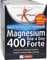 Lucovitaal Magnesium 400 Forte - Magnesium citraat 400 mg Mineralen - 20 Sachets