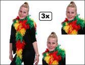 3x Boa brandveilig rood/geel/groen stroken