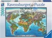 Ravensburger Wereldkaart legpuzzel 2000 stukjes