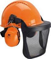 3M™ - PELTOR™ - Bosbouw combinatie - met G3000M helm, H31P3E gehoorkap en 5C vizier