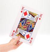 Speelkaarten extra groot 28x20 cm