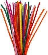 Chenille, dikte 6 mm, l: 30 cm, diverse kleuren, 50div