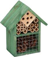 Groen insectenhotel 19 cm - Hotel/huisje voor insecten - Bijenhuis/vlinderhuis