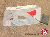 Ventoz Laser Radial Zeil (5.7 m2) COMPLEET - Rode Patches