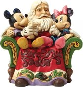 Disney beeldje - Traditions collectie - Christmas Wishes (Santa with Mickey & Minnie Mouse Figurine)