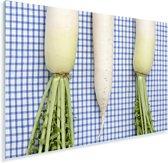 Drie rammenassen liggen op een geruiten deken Plexiglas 90x60 cm - Foto print op Glas (Plexiglas wanddecoratie)