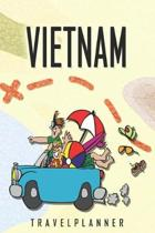 Vietnam Travelplanner: Travel Diary for Vietnam. A logbook with important pre-made pages and many free sites for your travel memories. For a