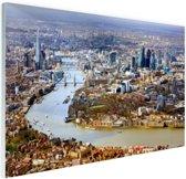 Luchtfoto van Londen Glas 180x120 cm - Foto print op Glas (Plexiglas wanddecoratie) XXL / Groot formaat!