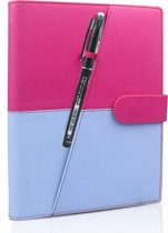 Luxe Portfolio Notitieboek / Schrift / Whiteboard Uitwisbaar,Herbruikbaar A5 Roze-Blauw