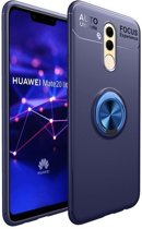 Teleplus Huawei Mate 20 Lite Ultra Soft Ravel Ring Silicone Case Blue hoesje