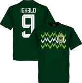 Nigeria Pattern Ighalo 9 Team T-Shirt - Groen - XL
