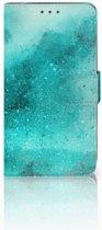 Motorola Moto G5S Plus Uniek Boekhoesje Painting Blue