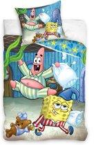 Spongebob Sleepover Dekbedovertrek - Eenpersoons - 140x200 cm - Multi