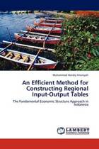 An Efficient Method for Constructing Regional Input-Output Tables