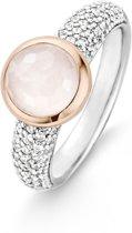 TI SENTO Milano Ring 12079LP - maat 17,75 mm (56) - Zilver witgoudverguld
