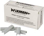 Fixman 10J Gegalviniseerde Nietjes, 5000 Stuks 11,2 X 8 X 1,16 Mm