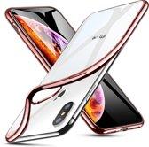 iphone X / iPhone Xs / 10s extreem elegant en dun flexibel hoesje - ESR - Essential Twinkler – Rose Gold / Roze