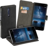 MP Case zwart book case style voor Nokia 8 wallet case