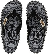 Gumbies Teenslipper  ISLANDER CANVAS SLIPPERS BLACK SIGNATURE PATTERN - Maat 42