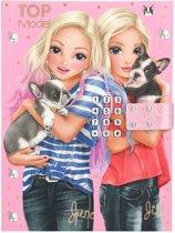 Topmodel Dagboek met Code en muziek - Pink & Dogs