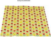 BeeBee Wraps Bijenwas Doek voor voedsel bewaren Tulip - organisch katoen 33x33cm