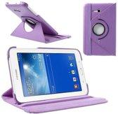 Paarse 360 graden draaibare tablethoes Galaxy Tab 3 7.0 Lite