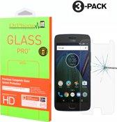DrPhone 3 x Moto G5s Glas - Glazen Screen protector - Tempered Glass 2.5D 9H (0.26mm)