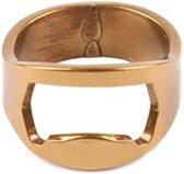 Bieropener Ring - Goud