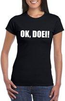 Ok Doei dames T-shirt zwart XL