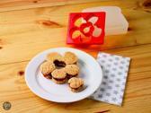 Tovolo Sandwichsteker - Lieveheersbeestje & Bloem - Rood
