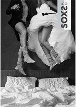 SOXS Hippe wollen sokken voor het bruidspaar donker en licht grijs  - maat 37 t/m 41 en 42 t/m 45