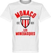AS Monaco Established T-Shirt - Wit - XXXL