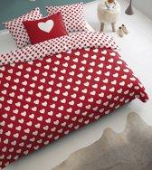 Damai hearts - Dekbedovertrek - 240 x 200/220 cm - Rood