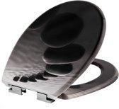 TecTake - WC bril - toiletbril - soft close - premium - steen - 402260