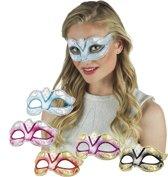 18 stuks: Masker Venetie - felina in 6 kleuren - assorti