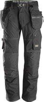 Snickers FlexiWork broek - met holsterzak - zwart maat M taille 50 W34