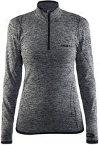 Craft Active Comfort Zip Sportshirt Dames - Black