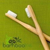 2 x Bamboe Tandenborstel Wit Medium